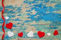 Decorazione di festa Concetto di giorno del ` s del biglietto di S. Valentino della st Fotografia Stock