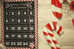 Decorazione di festa, giorni fino al Natale Fotografia Stock Libera da Diritti
