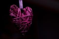 Decorazione di forma del cuore dell'albero di Natale Immagini Stock