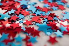 Decorazione di forma della stella con il tema del 4 luglio Immagini Stock