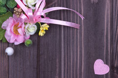 Decorazione di giorno di biglietti di S. Valentino Immagine Stock Libera da Diritti