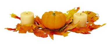 Decorazione di Halloween di ringraziamento di caduta isolata Fotografie Stock