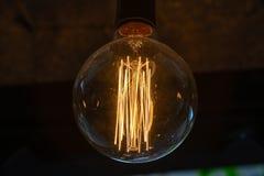 Decorazione di illuminazione di lampadina Fotografie Stock Libere da Diritti