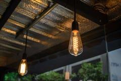 Decorazione di illuminazione di lampadina Fotografia Stock Libera da Diritti