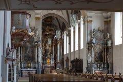 decorazione di interni dell'altare della chiesa nel porcile di barocco e di rinascita Fotografia Stock Libera da Diritti