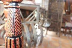 Decorazione di legno trattata Fotografie Stock Libere da Diritti