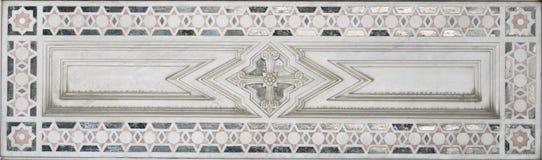 Decorazione di marmo (modello astratto dell'elemento della stella) Immagini Stock Libere da Diritti
