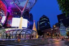 Decorazione di natale alla strada del frutteto di Singapore Fotografia Stock Libera da Diritti