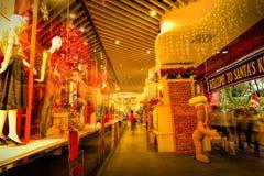Decorazione di natale alla strada del frutteto di Singapore Immagine Stock Libera da Diritti