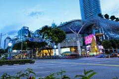 Decorazione di natale alla strada del frutteto di Singapore Fotografie Stock