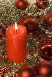 Decorazione di natale - candela Fotografia Stock Libera da Diritti