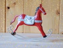 Decorazione di Natale, cavallo a dondolo Immagine Stock
