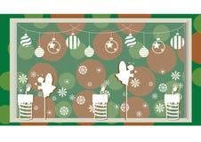 Decorazione di Natale con e fondo Fotografie Stock