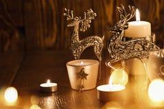 Decorazione di Natale con i cervi Immagine Stock