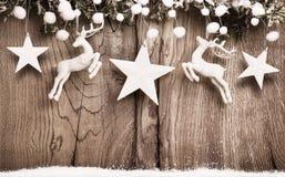 Decorazione di Natale con i cervi Fotografie Stock Libere da Diritti
