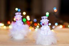 Decorazione di Natale con i giocattoli del pupazzo di neve Fotografie Stock Libere da Diritti