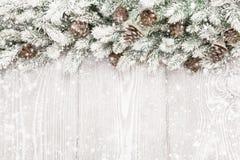 Decorazione di Natale con i rami dell'abete Fotografie Stock Libere da Diritti