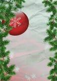 Decorazione di Natale con il ramo dell'albero di Natale Fotografia Stock