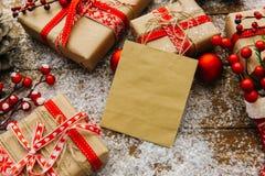 Decorazione di Natale con la borsa Fotografie Stock