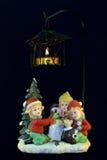 Decorazione di natale con la candela Immagini Stock
