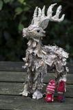 Decorazione di Natale con la renna Fotografie Stock Libere da Diritti