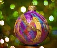 Decorazione di Natale con le luci del bokeh Fotografie Stock Libere da Diritti