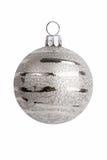Decorazione di natale - decorazioni d'argento della sfera Immagini Stock Libere da Diritti