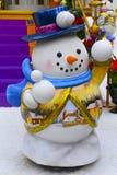 Decorazione di Natale del pupazzo di neve Fotografia Stock Libera da Diritti