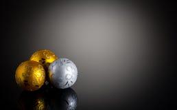 Decorazione di Natale dell'argento e dell'oro fotografie stock libere da diritti