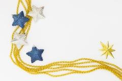 Decorazione di natale della stella dell'oro Immagine Stock Libera da Diritti
