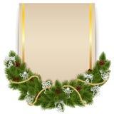 Decorazione di Natale di vettore con la carta Fotografia Stock