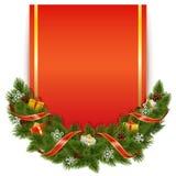 Decorazione di Natale di vettore con la cartolina Fotografia Stock Libera da Diritti