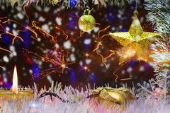Decorazione di Natale e del nuovo anno fotografia stock