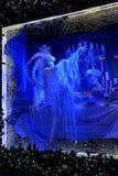 Decorazione di natale Finestra di notte su Fifth Avenue Fotografie Stock