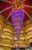 Decorazione di Natale in Galeries Lafayette, Parigi Fotografia Stock