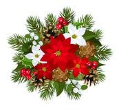 Decorazione di Natale. Illustrazione di vettore. Immagini Stock