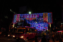 Decorazione di Natale a Medellin Fotografie Stock Libere da Diritti