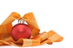 Decorazione di natale nei toni rossi ed arancioni Fotografia Stock Libera da Diritti