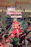 Decorazione di Natale nel centro commerciale Fotografie Stock