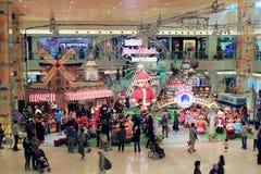 Decorazione di Natale nel centro commerciale Immagine Stock
