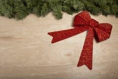 Decorazione di Natale nel fondo di legno Fotografie Stock