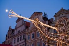 Decorazione di natale a Praga Immagini Stock Libere da Diritti