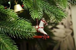 Decorazione di Natale in sotto forma di cavallo fotografia stock