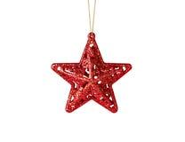 Decorazione di Natale. Stella rossa fotografie stock libere da diritti