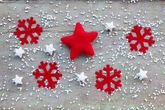 Decorazione di Natale su fondo di legno Immagine Stock