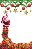 Decorazione di natale su priorità bassa astratta Buon Natale e buoni anni di fondo Idea della carta Fotografia Stock