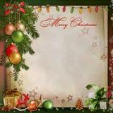 Decorazione di Natale su un fondo d'annata Immagine Stock Libera da Diritti