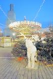 Decorazione di Natale sul quadrato rosso a Mosca Immagine Stock Libera da Diritti