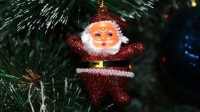 Decorazione di natale sull'albero fotografia stock