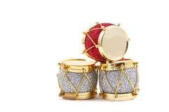Decorazione di natale, tamburi Fotografia Stock